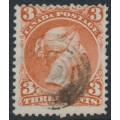 CANADA - 1868 3c brown-red Queen Victoria, large type, used – SG # 58