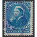 CANADA - 1893 50c blue Queen Victoria, used – SG # 116