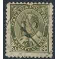 CANADA - 1904 20c deep olive-green King Edward VII, used – SG # 186