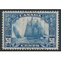 "CANADA - 1929 50c blue The Schooner ""Bluenose"", used – SG # 284"