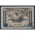 CANADA - 1932 6c on 5c deep brown Ottawa Conference airmail overprint, used – SG # 318