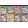 FALKLAND ISLANDS DEPENDENCIES - 1948 ½d to 1/- Map (thin and clear), MNH – SG # G9-G16