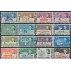 BRITISH ANTARCTIC TERRITORY - 1963 ½d to £1 QEII Definitives set of 16 (both £1 values), MH – SG # 1-15+15a