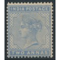 INDIA - 1883 2a pale blue Queen Victoria, single star watermark, mint hinged – SG # 91