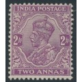 INDIA - 1911 2a purple King George V, single star watermark, mint hinged – SG # 166