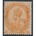 INDIA - 1926 2a6p orange King George V, single star watermark, mint hinged – SG # 199