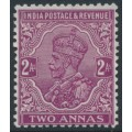 INDIA - 1926 2a purple King George V (POSTAGE & REVENUE), multi star watermark, MNG – SG # 206
