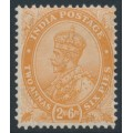 INDIA - 1929 2a6p orange King George V, multi star watermark, mint hinged – SG # 207
