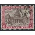 INDIA - 1949 15R brown/claret Satrunjaya Temple, used – SG # 324