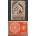INDIA - 1956 Buddha Jayanti set of 2, mint hinged – SG # 372-373