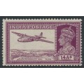 INDIA - 1940 14a purple KGVI Armstrong Whitworth airmail, mint hinged – SG # 277