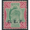 INDIA - 1911 1R green/carmine King Edward VII overprinted CEF, mint hinged – SG # C20
