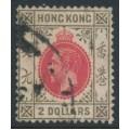 HONG KONG - 1912 $2 carmine-red/grey-black KGV, multi crown CA watermark, used – SG # 113