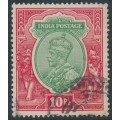 INDIA - 1913 10R green/scarlet King George V, single star watermark, used – SG # 189