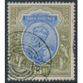 INDIA - 1913 15R blue/olive King George V, single star watermark, used – SG # 190