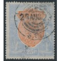 INDIA - 1913 25R orange/blue King George V, single star watermark, used – SG # 191