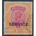 INDIA - 1930 2R carmine/orange King George V overprinted SERVICE, used – SG # O118