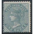 INDIA - 1874 1R slate Queen Victoria, Elephant watermark, MH – SG # 79