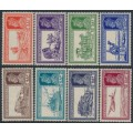 INDIA - 1937 2a to 12a KGVI Transportation definitives set of 8, MH – SG # 251-258