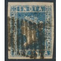 INDIA - 1854 ½a blue Queen Victoria, die I, imperforate, used – SG # 2
