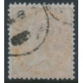 INDIA - 1859 2a yellow-buff QV, white paper, no watermark, used – SG # 42
