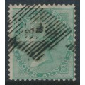 INDIA - 1865 4a green Queen Victoria, white paper, no watermark, used – SG # 64