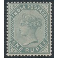 INDIA - 1883 1R slate Queen Victoria, star watermark, MH – SG # 101