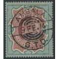 INDIA - 1911 3R red-brown/green King Edward VII, single star watermark, used – SG # 141