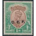 INDIA - 1921 1R brown/green King George V overprinted CEF, MH – SG # C34