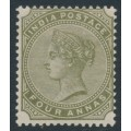 INDIA - 1885 4a olive-green Queen Victoria, star watermark, MH – SG # 95