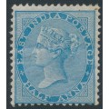 INDIA - 1865 ½a blue Queen Victoria, elephant watermark, MH – SG # 54