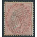 INDIA - 1860 2a dull pink QV, B172 cancel (= Singapore), used – SG # 41 / Z72