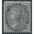 INDIA - 1855 4a black QV, on blued paper, no watermark, used – SG # 35