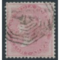INDIA - 1855 8a carmine QV, on blued paper, no watermark, used – SG # 36