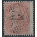 INDIA - 1860 2a dull pink QV, white paper, no watermark, used – SG # 41