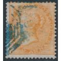 INDIA - 1858 2a orange QV, white paper, no watermark, used – SG # 44