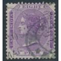 INDIA - 1865 8p mauve QV, elephant watermark, used – SG # 57