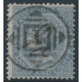 INDIA - 1867 6a8p slate QV, elephant watermark, used – SG # 72