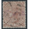 INDIA - 1876 12a Venetian red QV, elephant watermark, used – SG # 82