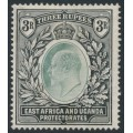 EAST AFRICA & UGANDA PROTECTORATES - 1907 3R grey-green/black KEVII definitive, multi crown CA watermark, MH – SG # 28