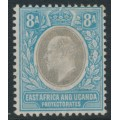 EAST AFRICA & UGANDA PROTECTORATES - 1903 8a grey/blue KEVII, multi crown CA watermark, MH – SG # 8