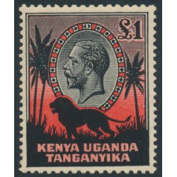KENYA, UGANDA & TANGANYIKA - 1935 £1 black/red KGV definitive (Lion), MH – SG # 123
