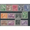 BRITISH GUIANA - 1934 1c to $1 KGV definitives set of 13 with SPECIMEN perfin, MH – SG # 288s-300s