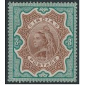 INDIA - 1895 3R brown/green Queen Victoria definitive, MH – SG # 108