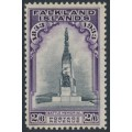 FALKLANDS IS - 1933 2/6 black/violet Battle Memorial, MH – SG # 135