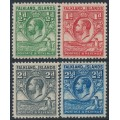 FALKLANDS IS - 1929 ½d to 2½d King George V & Penguin definitives, MNH – SG # 116-119