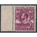 FALKLANDS IS - 1929 6d purple King George V & Penguin definitive, MNH – SG # 121