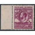 FALKLANDS IS - 1929 6d purple King George V & Penguin definitive, MNH – SG # 121