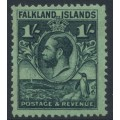 FALKLANDS IS - 1929 1/- black/emerald King George V & Penguin definitive, MNH – SG # 122