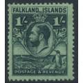 FALKLANDS IS - 1929 1/- black/emerald King George V & Penguin definitive, MNH – SG # 122